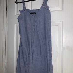 Doe & Rae Striped Dress, size large